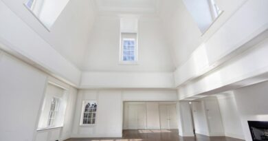 decorating a room with high ceilings